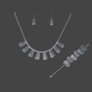 3d model set silver