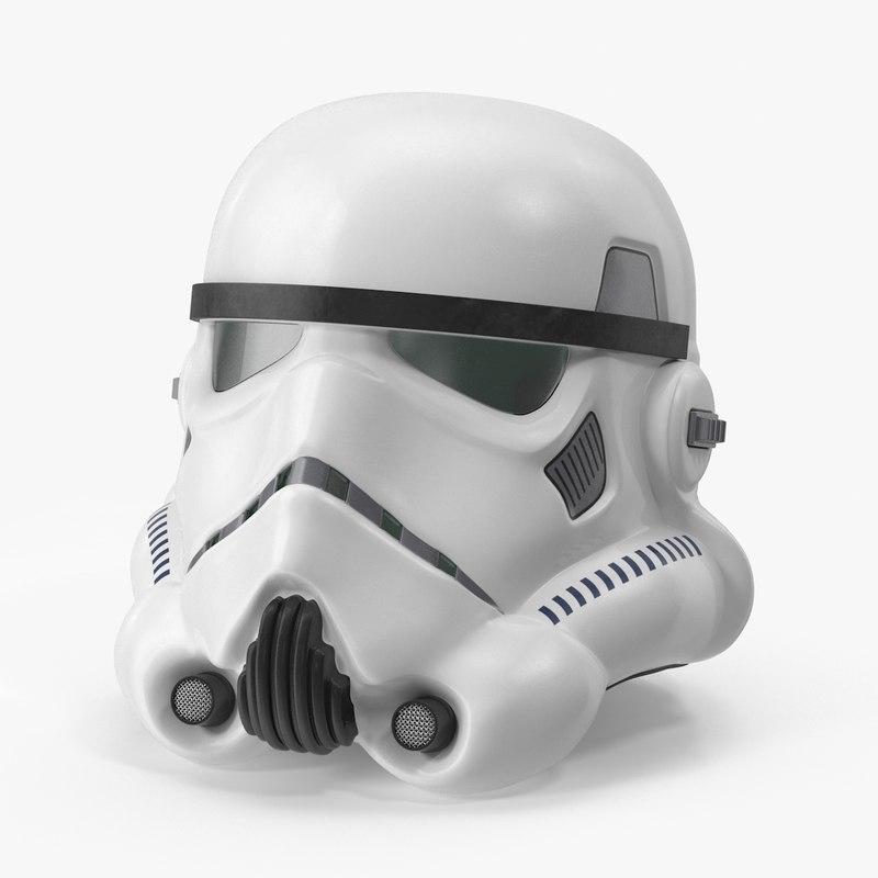 classic stormtrooper helmet 3d model