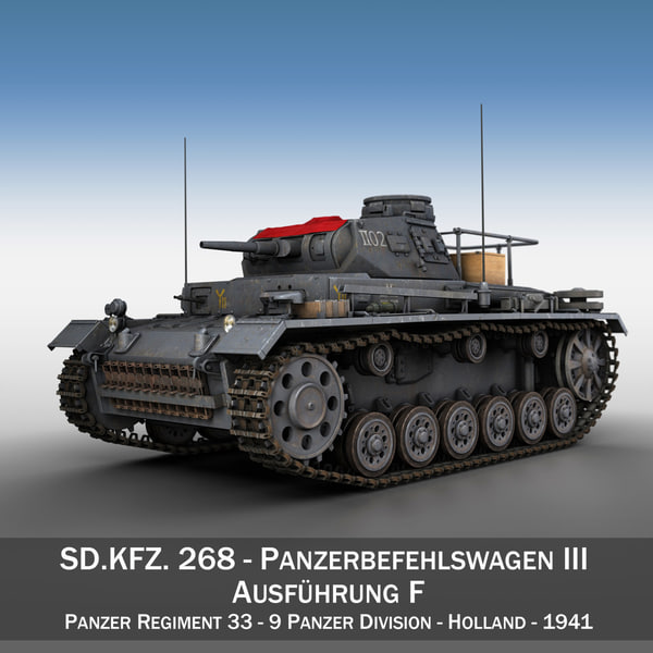 sd kfz 267 pzbefwg 3d model