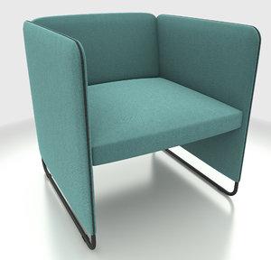 3d armchair sofa pedrali zippo
