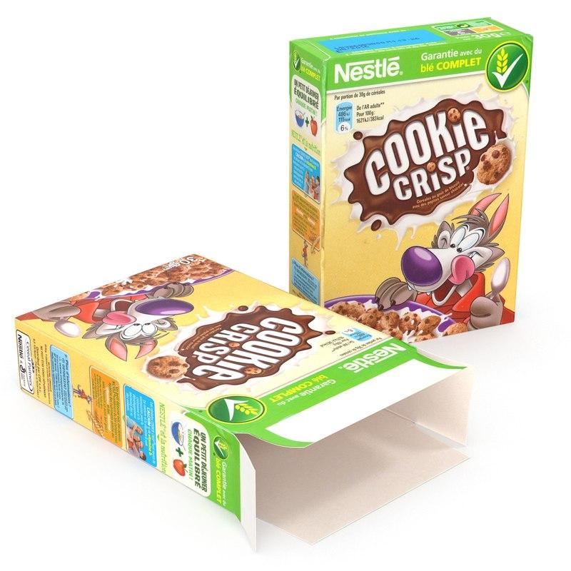 cereal cookie 3d model