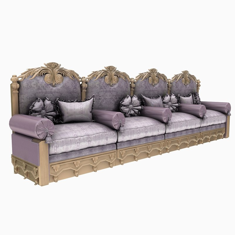 3d ornate sofa