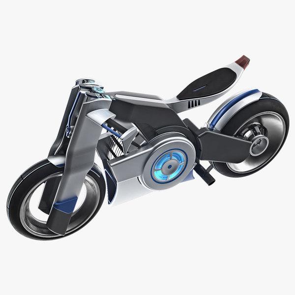 futuristic bike hologram max