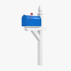 mailbox mail 3d max
