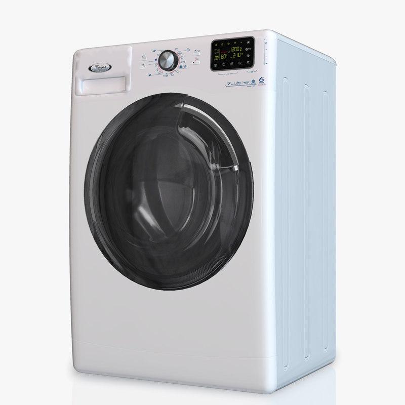 washing machine whirlpool awse7120 3d model