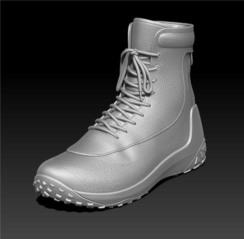 3d sport boots model