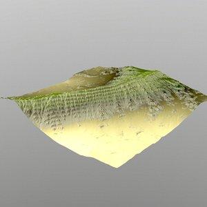 3d model hills cliffs terrain