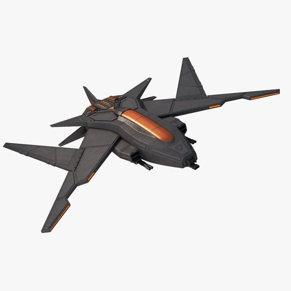 sci fi fighter jet 3d max