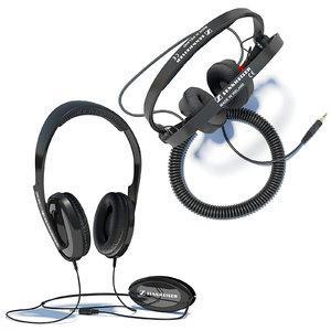 sennheiser hd 202 headphones 3d model