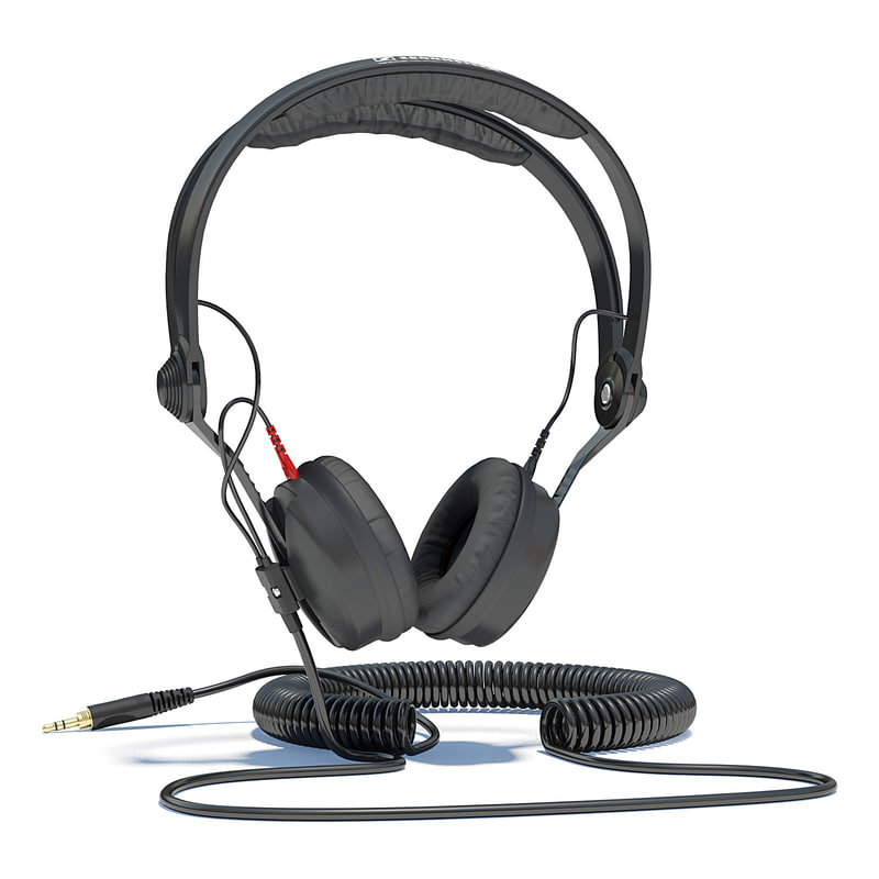 3d obj sennheiser hd headphones