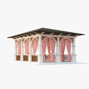 3d garden house model