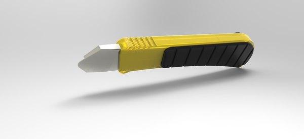 paper cutter 3d obj