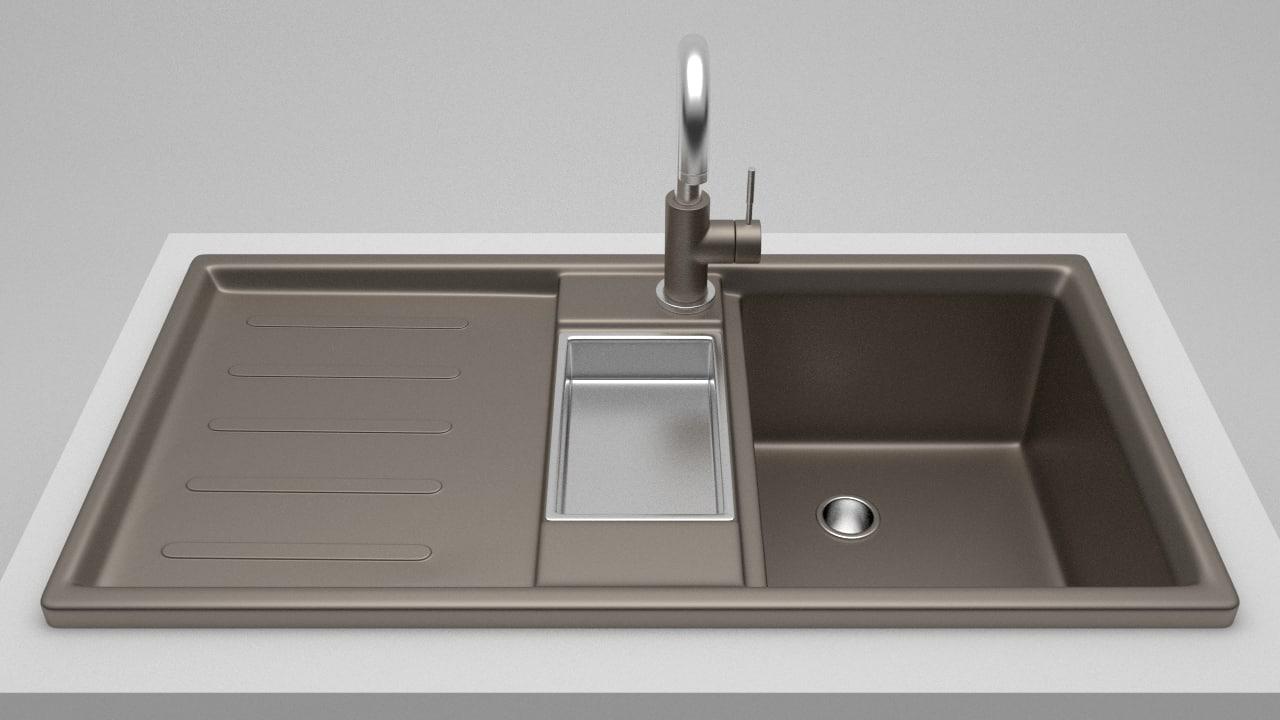 sink tap 1 3d model