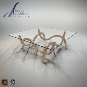 robby contour coffee table 3d model