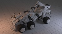3d sci-fi mobile construction vehicle model