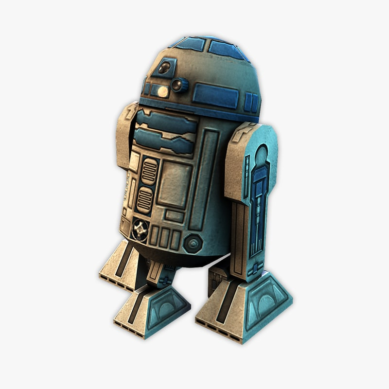 3d model of ultra r2-d2 r2