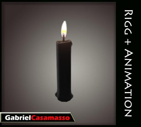 candle flame 3d model