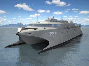 navy hsv hsv-2 3d model