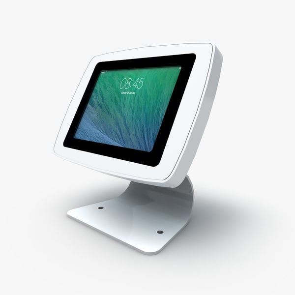 3d tablet enclosure kiosks model