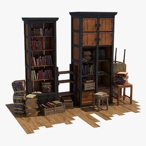 3d model book display