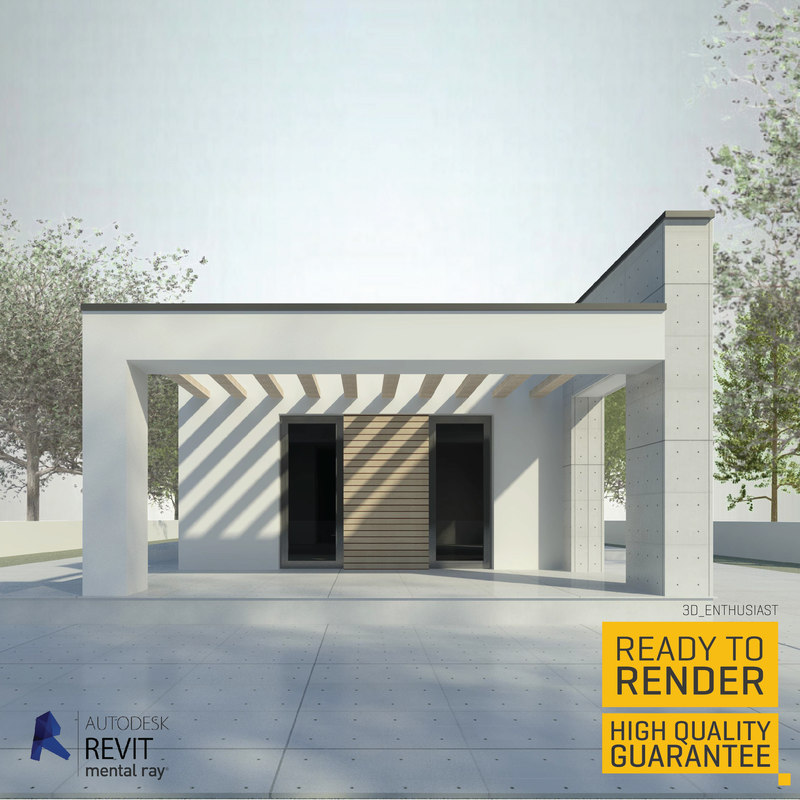 contemporary villa 3d model