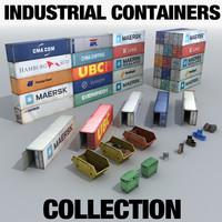 3d model industrial containers