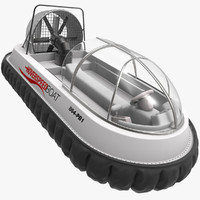 speed hovercraft boat 3d max