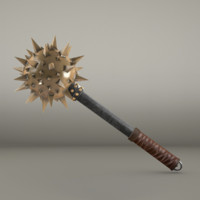 medieval mace ready - 3d model