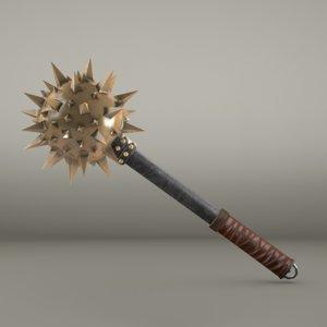medieval mace ready - 3d model