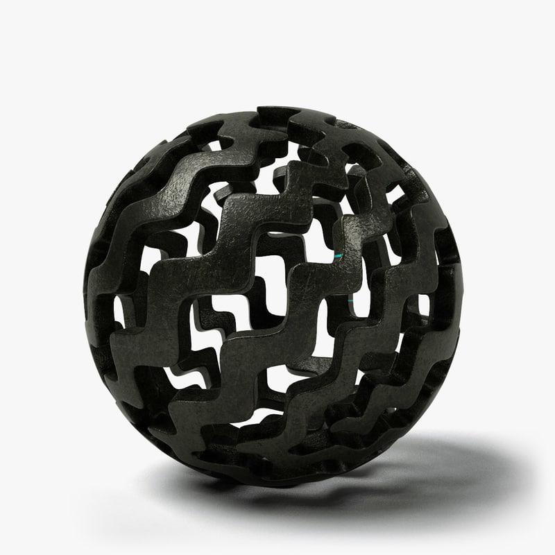 ball sculpture 2 3d c4d