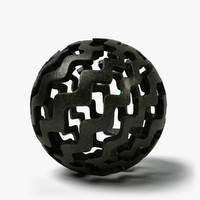 ball sculpture 2 3d c4d