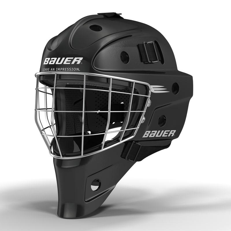 hockey goalie mask bauer 3d max