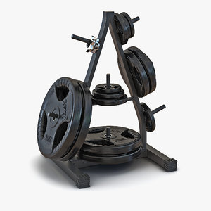 weight plate tree set c4d