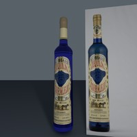 3d model blue tequila