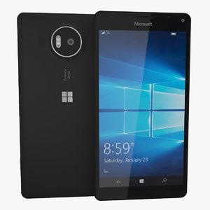 realistic microsoft lumia 950 3d c4d