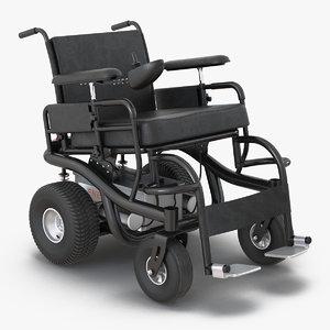 3d model powered wheelchair