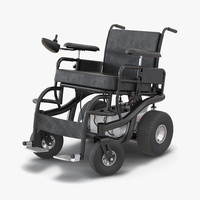 Powered Wheelchair Rigged 3D Model