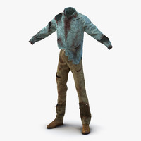 zombie outfit modeled 3d fbx