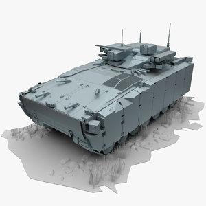 3d ifv kurganets-25 model