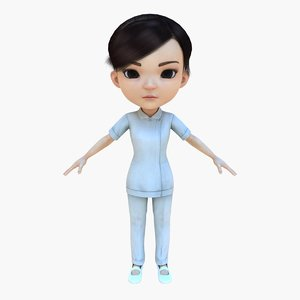 3d woman human girl