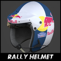 3d rally helmet model
