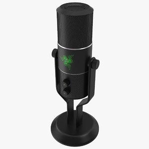razer seiren pro microphone 3d model