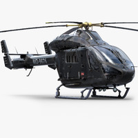MD902 Black Helicopter
