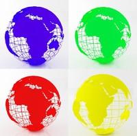 earth globe color 3d max