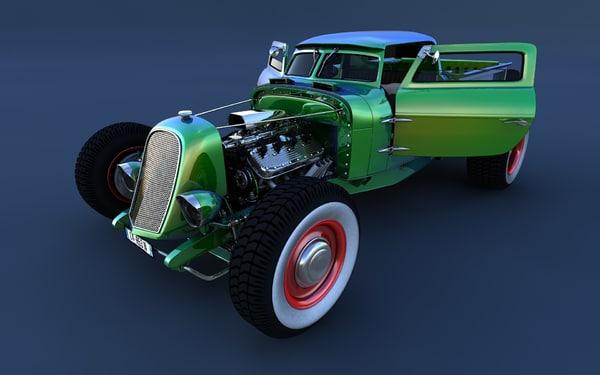 hotrod truck c4d