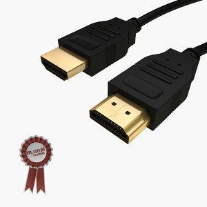 3d hdmi cable model