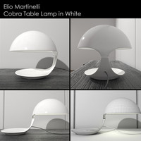 Cobra Lamp in White Elio Martinelli
