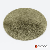 Carpet Snow H265-beige round