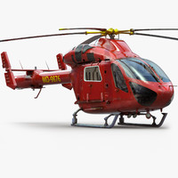 Helicopter MD902 Private Red
