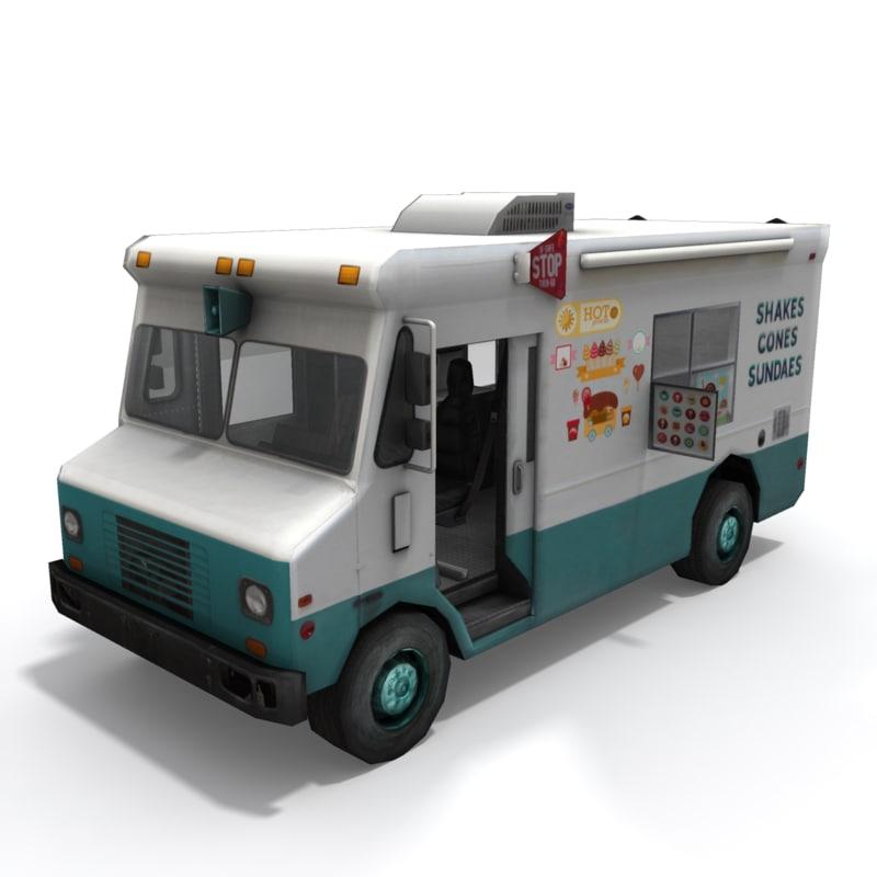 3d model ice cream truck